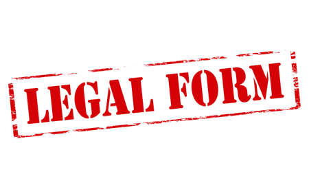 lawful: Rubber stamp with text legal form inside, vector illustration