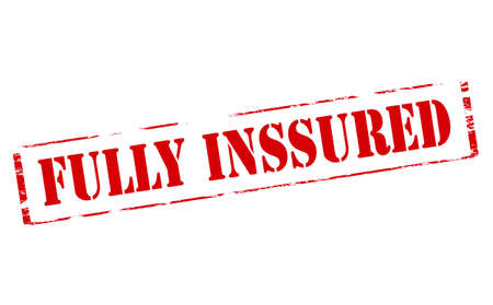insured: Rubber stamp with text fully insured inside, vector illustration