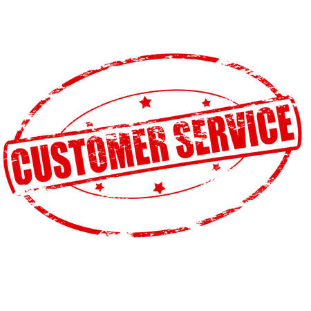 Rubber stamp with text customer service inside, vector illustration