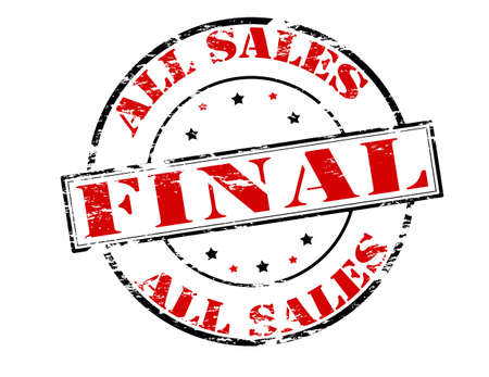 conclusive: Rubber stamp with text all sales final inside, vector illustration Illustration