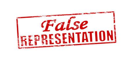 representation: Rubber stamp with text false representation inside, vector illustration