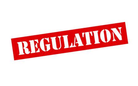 regulation: Rubber stamp with word regulation inside, vector illustration
