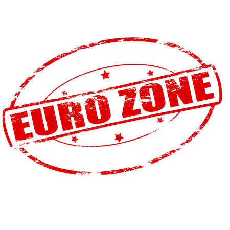 euro area: Rubber stamp with text Euro zone inside, vector illustration Illustration