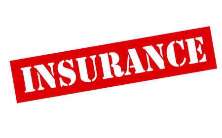 reassurance: Sello de goma con el interior de seguro de la palabra, ilustraci�n vectorial