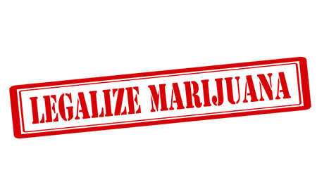attest: Rubber stamp with text legalize marijuana inside, vector illustration