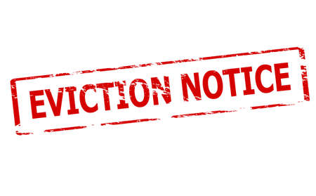 notify: Rubber stamp with text eviction notice inside, vector illustration Illustration