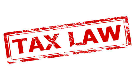 tax law: Rubber stamp with text tax law inside, vector illustration