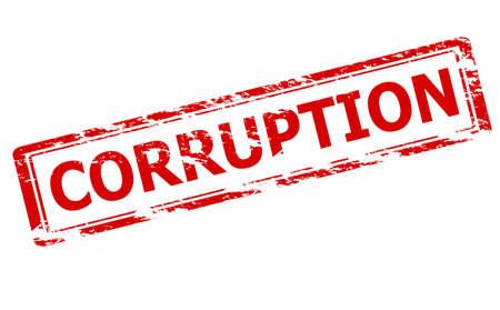 corruption: Rubber stamp with word corruption inside, vector illustration Illustration