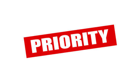 priority: Rubber stamp with word priority inside, vector illustration