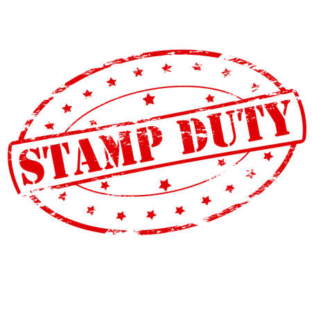 scot: Rubber stamp with text stamp duty inside, vector illustration Illustration