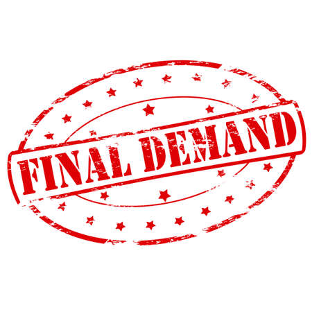 demand: Rubber stamp with text final demand inside, vector illustration