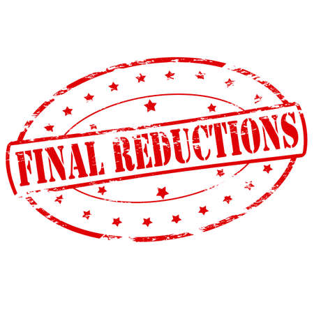 conclusive: Rubber stamp with text final reductions inside, vector illustration Illustration