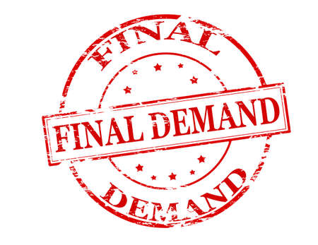 conclusive: Rubber stamp with text final demand inside Illustration