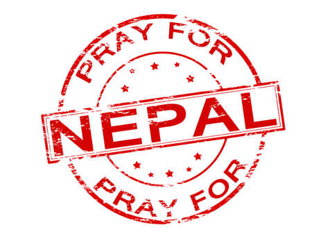 implore: Rubber stamp with text pray for Nepal inside, vector illustration Illustration