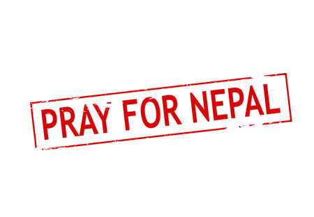 nepal: Rubber stamp with text pray for Nepal inside, vector illustration Illustration