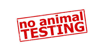 beastly: Rubber stamp with text no animal testing inside, vector illustration