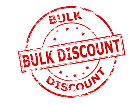 bulk: Rubber stamp with text bulk discount inside, vector illustration Illustration