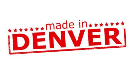 denver: Rubber stamp with text made in Denver inside, vector illustration