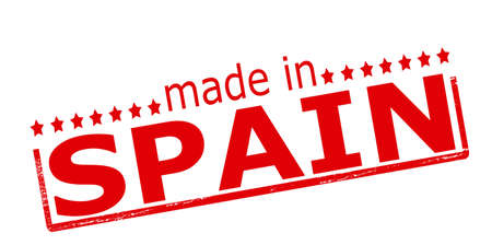 made in spain: Rubber stamp with text made in Spain inside, vector illustration Illustration