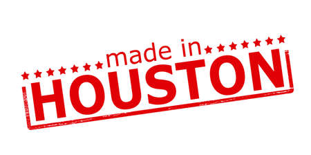 houston: Rubber stamp with text made in Houston inside, vector illustration Illustration