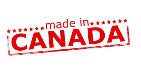 canada stamp: Rubber stamp with text made in Canada inside, vector illustration Illustration