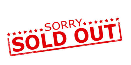 sorry: Rubber stamp with text sorry sold out inside, vector illustration