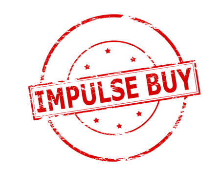 impulse: Rubber stamp with text impulse buy inside, vector illustration Illustration