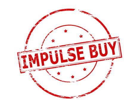 urge: Rubber stamp with text impulse buy inside, vector illustration Illustration