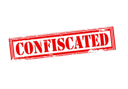 confiscated: Rubber stamp with word confiscated inside, vector illustration