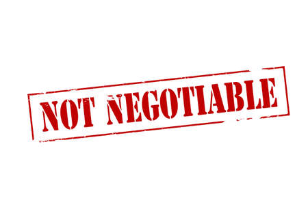 negotiable: Rubber stamp with text not negotiable inside, vector illustration Illustration