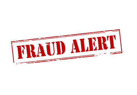 cheat: Rubber stamp with text fraud alert inside, vector illustration Illustration