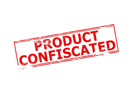 seize: Rubber stamp with text product confiscated inside, vector illustration