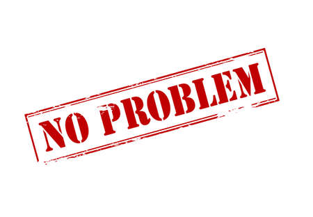 no problem: Rubber stamp with text no problem inside, vector illustration