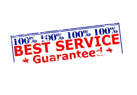 grant: Rubber stamp with text one hundred percent best service inside, vector illustration