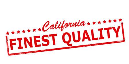 finest: Timbro di gomma con il testo della California migliore qualit� dentro, illustrazione vettoriale Vettoriali