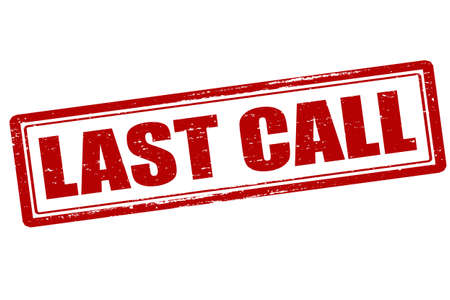 appeal: Rubber stamp with text last call inside, vector illustration