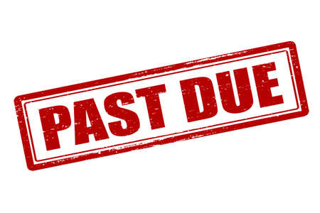 past due: Rubber stamp with text past due inside, vector illustration