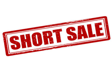 short sale: Rubber stamp with text short sale inside, vector illustration