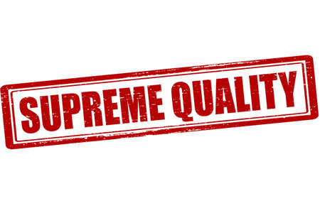 supreme: Rubber stamp with text supreme quality inside, vector illustration Illustration