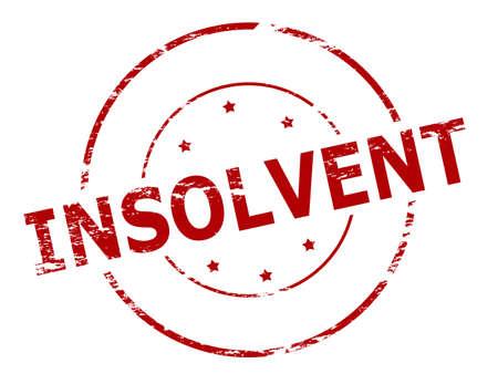 solvant: Rubber stamp avec mot � l'int�rieur insolvable, vector illustration Illustration