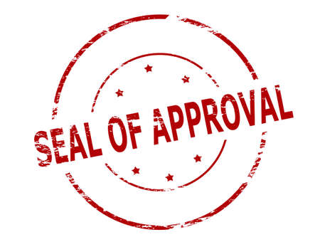 approbation: Rubber stamp with text seal of approval inside, vector illustration Illustration