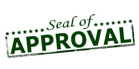 approbation: Timbro di gomma con il testo sigillo di approvazione dentro, illustrazione vettoriale