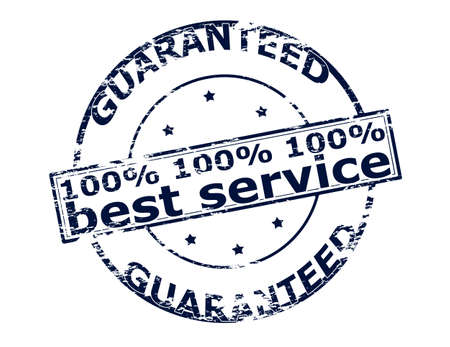 berth: Rubber stamp with text one hunder percent best service inside, vector illustration