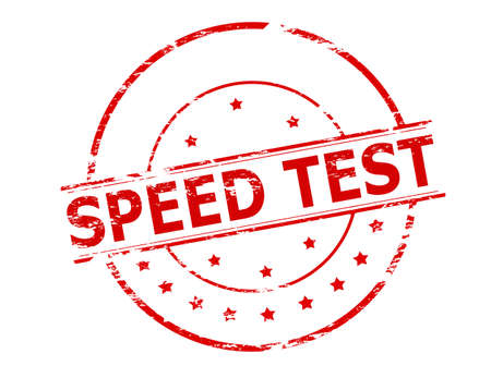 speed test: Rubber stamp with text speed test inside, vector illustration