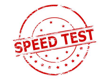 celerity: Sello de goma con la prueba de velocidad de texto interior, ilustraci�n vectorial