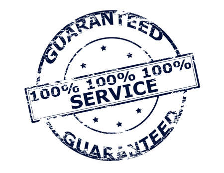 berth: Rubber stamp with text one hunder percent service inside, vector illustration Illustration