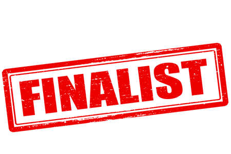 finalist: Rubber stamp with word finalist inside, vector illustration