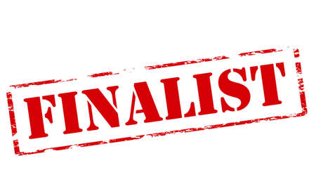 finalistin: Stempel mit Wort Finalist im Inneren, Vektor-Illustration Illustration