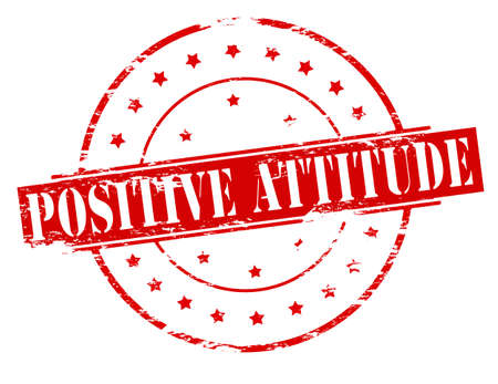 stance: Rubber stamp with text positive attitude inside, vector illustration