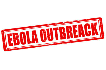 outburst: Rubber stamp with text Ebola outbreak inside, vector illustration Illustration